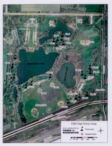 FDR Park Picnic Site Map